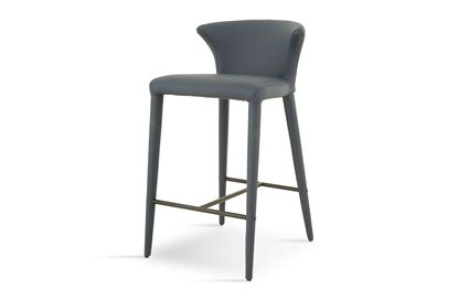Picture of Bardot Barstool Luxe Ocean Black Footrest