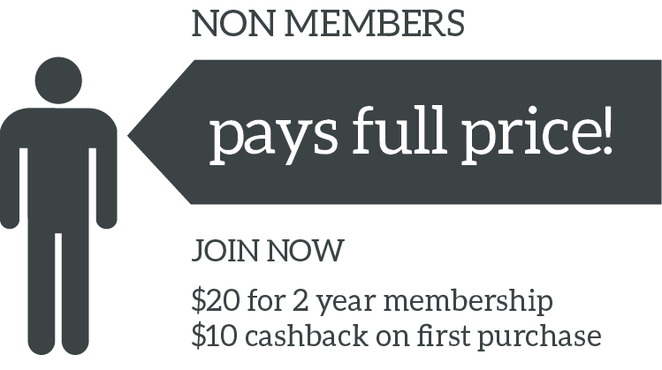 Non Members pay full price